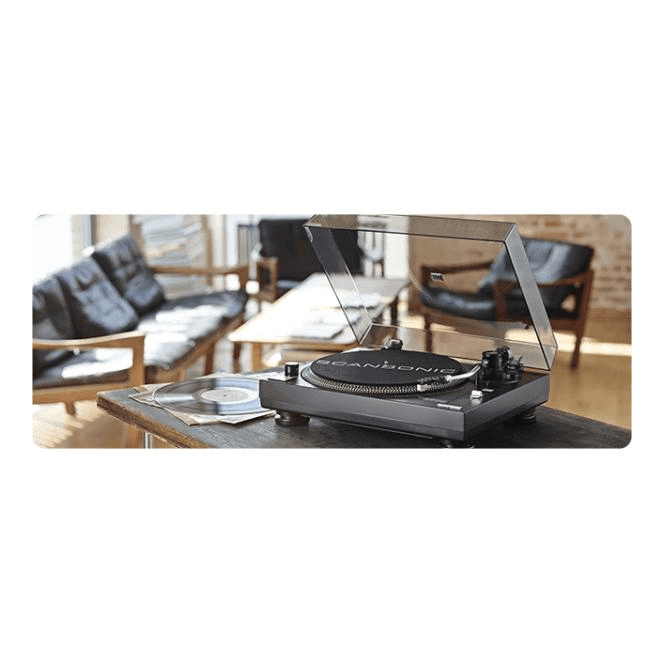 Scansonic USB100 Turntable Package with Active Bluetooth Speakers