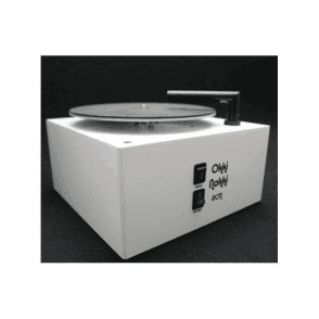Record Cleaning Machine in White including 7 inch arm